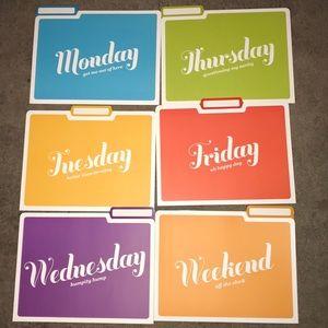 Weekday File Folders